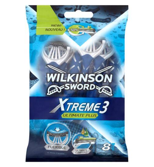 Wilkinson Sword Xtreme 3 Ultimate Plus Men's Disposable Razors x8