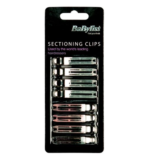 BaByliss Hairdresser Sectioning Clips 8pk