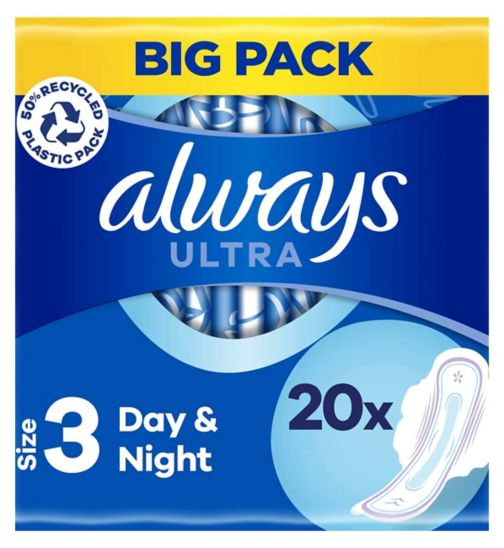 Always Ultra Night (Size 3) Sanitary Towels Wings 20 Pads