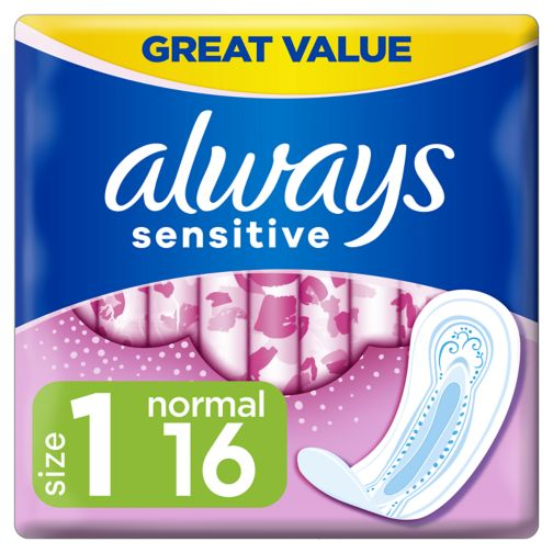 Always Sensitive Normal Ultra (Size 1) Sanitary Towels 16 Pads
