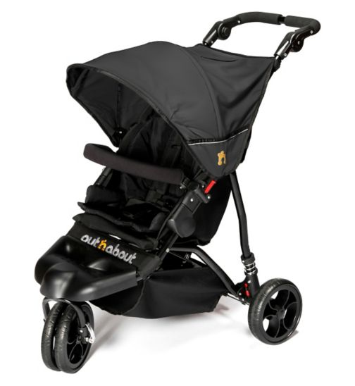 Out 'n' About Little Nipper Pushchair - Jet Black