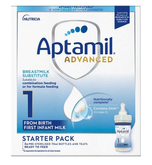 Aptamil Profutura First Infant Milk Starter Pack 1 From Birth 6 x 70ml