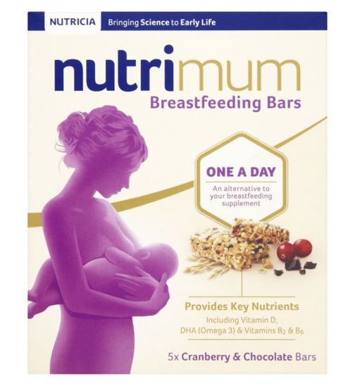 nutrimum Breastfeeding Cranberry & Chocolate Cereal Bars 5 x 40g (200g)