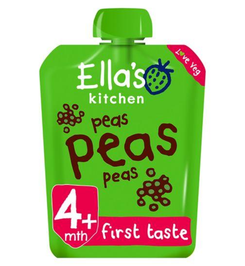 Ella's Kitchen Peas Peas Peas from 4 Months 70g