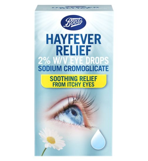 Boots Pharmaceuticals Hayfever Relief 2% w/v Eye Drops - 10ml