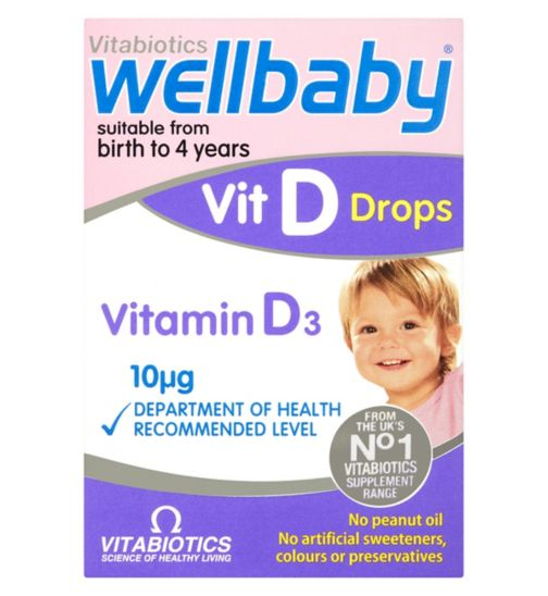 Vitabiotics Wellbaby Vit D Drops 4 Months to 4 Years 30ml
