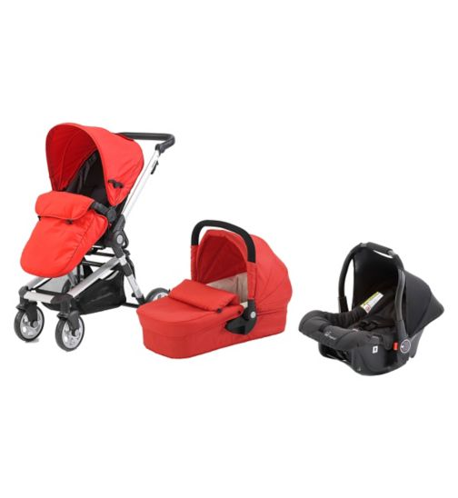 Beep Twist Travel System - Red