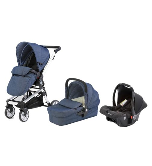 Beep Twist Travel System - Denim