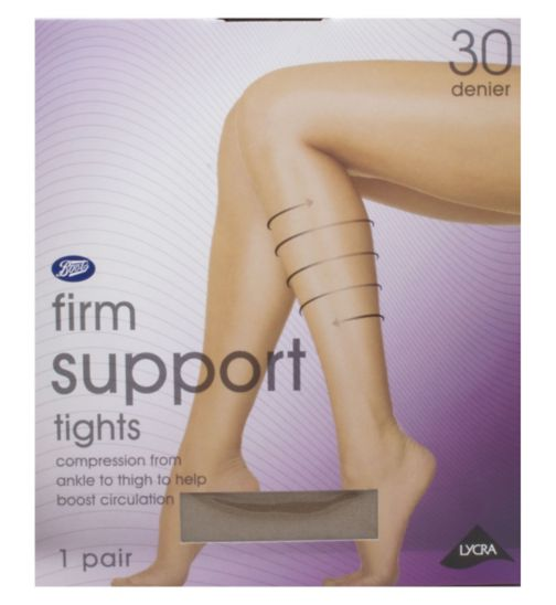 Boots 30 Denier Firm Support Mist Tights 1 Pair Pack
