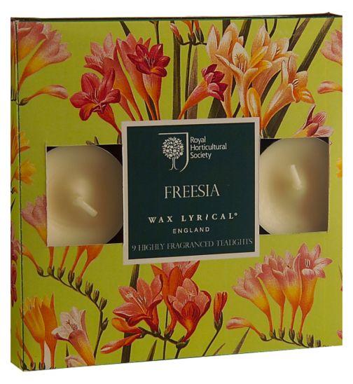Wax Lyrical RHS scented tealights freesia box