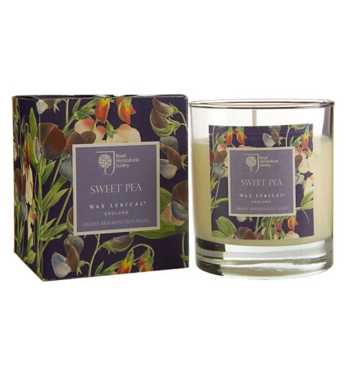 Wax Lyrical RHS Sweet Pea Boxed Candle