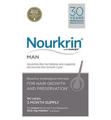 Nourkrin Man for hair preservation 180s