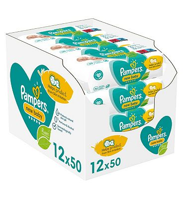 New Baby Sensitive Baby Wipes 12 Packs = 600 Wipes