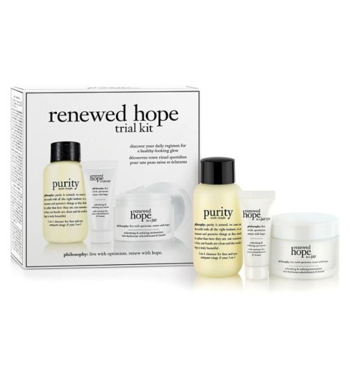 Philosophy renewed hope in a jar trial kit