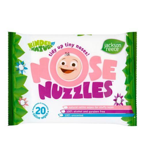 Jackson Reece Nose Nuzzles Saline Wipes - 20s