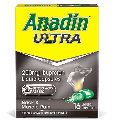 Anadin Ultra 200mg Ibuprofen Liquid Capsules - 16