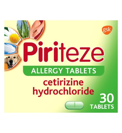 Piriteze Allergy Tablets - 30
