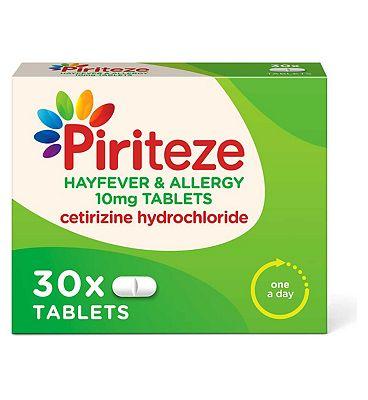Piriteze Allergy Relief Tablets Cetirizine 30s