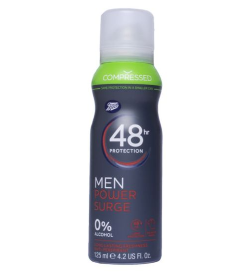 Boots Compressed 48hr Men Power Surge Anti-Perspirant 125ml