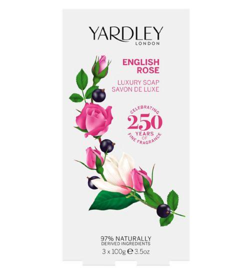Yardley English Rose 3 X 100g Soap