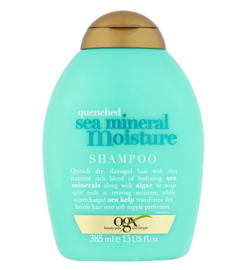 Ogx Quenched Sea Mineral Moisture Shampoo 385ml