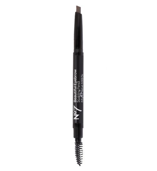 No7 Beautiful Eyebrow Sculpting Pencil Brown