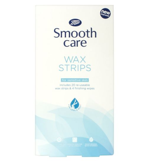 Boots Smooth Care 20 Re-usable Sensitive Wax Strips