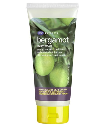 Boots Extracts Bergamot body wash 200ml