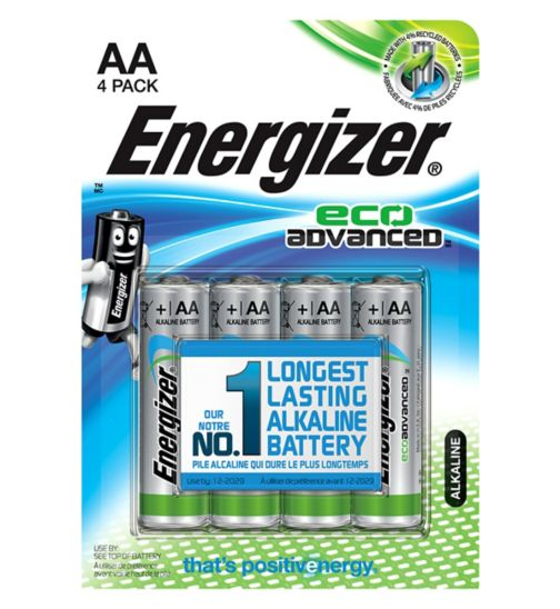 Energizer Eco Advanced AAA Batteries x4