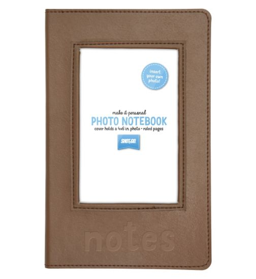 Shot 2 Go Personalised Photo Notebook- Tan