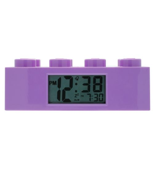 LEGO Brick Clock - Purple