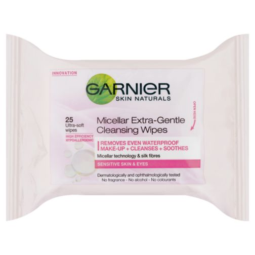 Garnier Micellar Face Wipes Sensitive Skin 25 Wipes