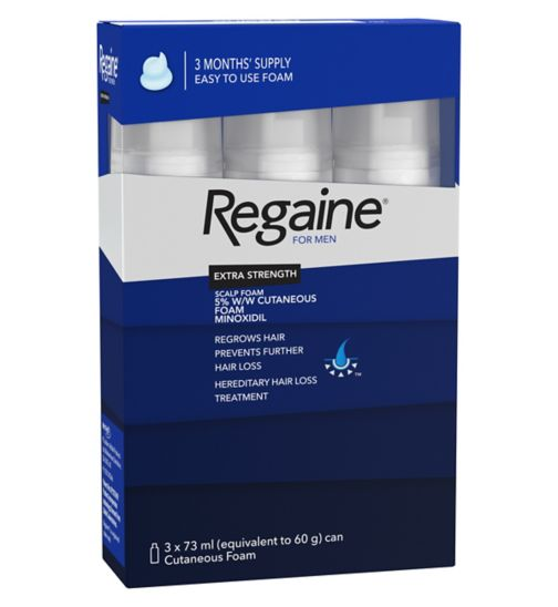 Regaine for Men Extra Strength Scalp Foam 5% w/w Cutaneous Foam  - 3 Months' Supply