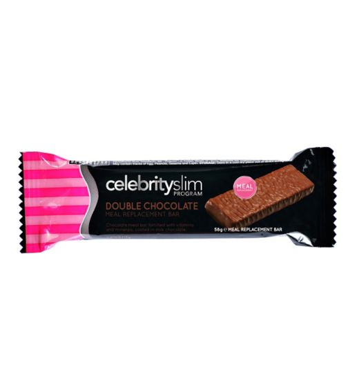 Celebrity Slim Double Chocolate Meal Replacement Bar - 58g