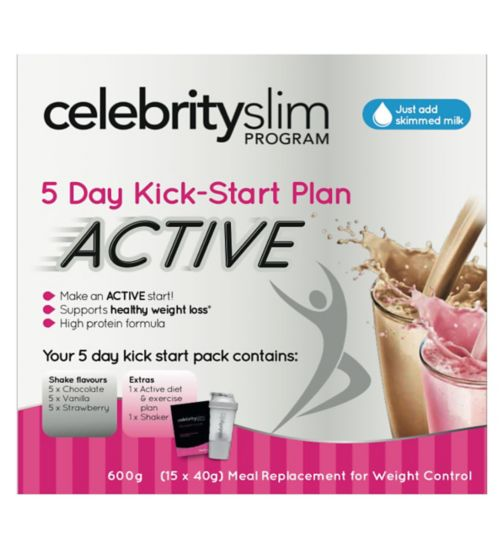 Celebrity Slim Active Starter Pack - 5 Day Plan - 15 x 40g