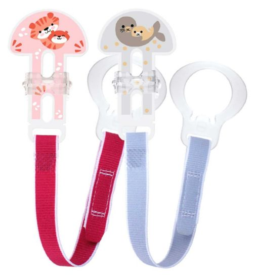 MAM Soother Clips - Pink