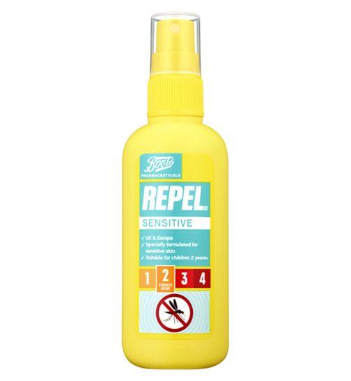 Boots Repel Sensitive Insect Repellent Spray 100ml