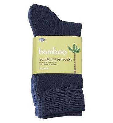 Boots Bamboo Mix Blue Socks (3 pairs)