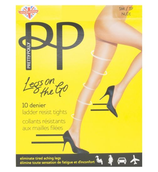 Pretty Polly 10 Denier Legs On The Go Nude Tights 1 Pair Pack