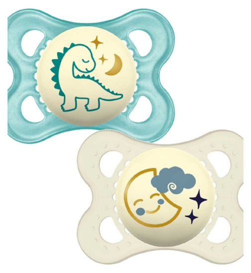MAM Night 0 + Soother Blue