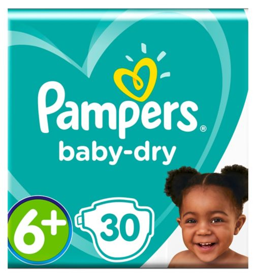 Pampers Baby-Dry Size 6+ Essential Pack 30 Nappies
