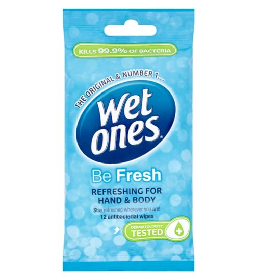 Wet Ones Be Fresh Original 12 Antibacterial Wipes