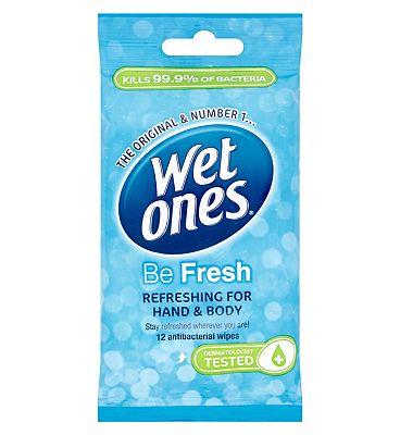 Wet Ones Be Fresh Original 12 Antibacterial Wipes