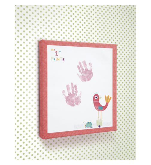 Mamas & Papas All Mine Imprint Canvas - Pink