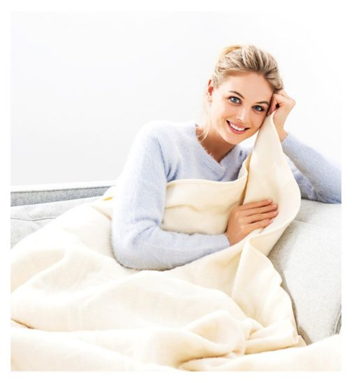 Monogram by Beurer Cosy Heated Throw Cream