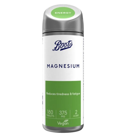 Boots Magnesium 375 mg - 180 Tablets