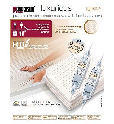Monogram Luxurius Heated Mattress Cover  Super KingDual