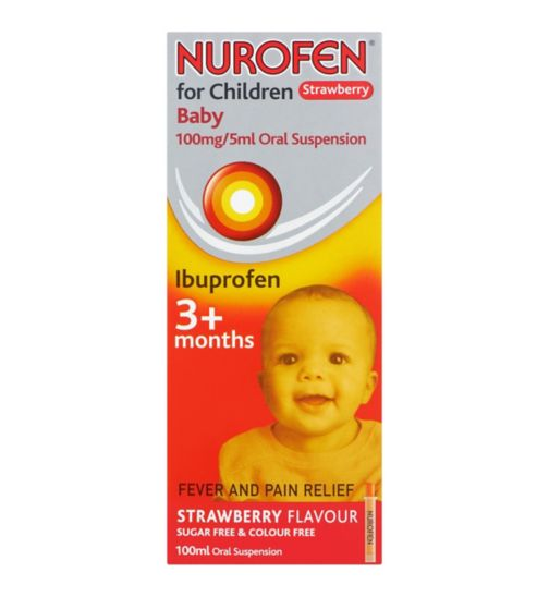 Nurofen For Children Baby Strawberry Oral Suspension - 100ml
