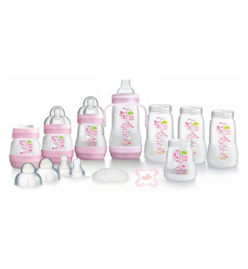 Mam Anti Colic Bottle Starter Set - Pink
