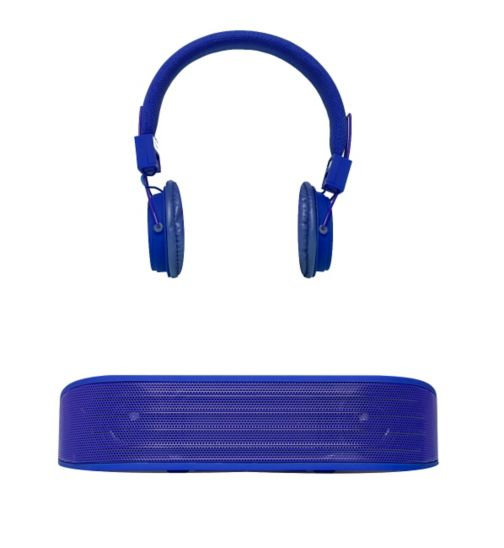 Vivitar Bluetooth Speaker and Headphones Set- Blue